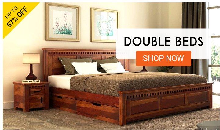 Wooden Bedroom Furniture: Buy Bedroom Furniture Online Upto 55% Off