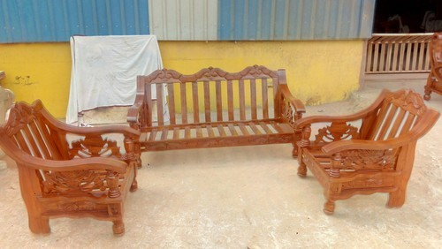 Diaamond&Co Teak And Walnut Wooden Sofa Set - World Cup Model, Rs