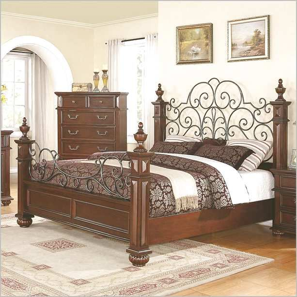 Wood And Wrought Iron Bed Frames | Bedroom Ideas | Wrought iron beds