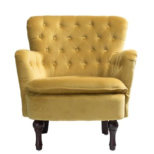 Yellow Velvet Chair | Wayfair